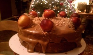 Caramel Apple For The Teacher Cake