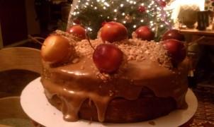 Caramel Apple For The Teacher Cake