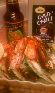Chili-Roasted Crabs In Pumkin Ale