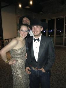 My sister, my son, and my photo-bombing husband...