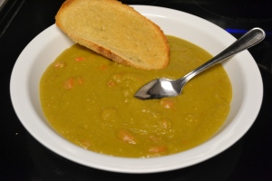 Plain Ol' Spli Pea Soup, With Rustic Toast