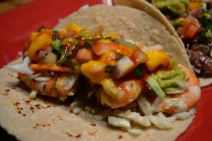 Citrus Marinated Shrimp Tacos With Peach Salsa